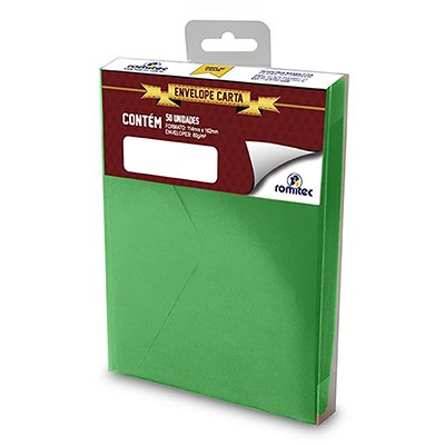 Envelope 80g comercial 114x162 verde 35R Romitec CX 50 UN