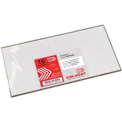 Envelope ofício114x229 c/rpc 75g Celucat PT 10 UN