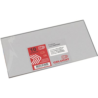 Envelope ofício114x229 s/rpc 75g Celucat PT 10 UN