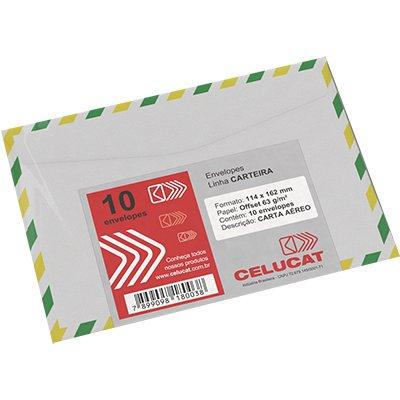 Envelope comercial 114x162 s/rpc 63g aéreo Celucat PT 10 UN