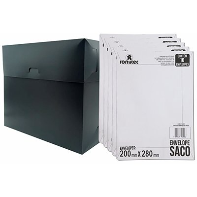 Envelope saco kraft branco 75g 200x280 br28 000167R Romitec CX 10 UN