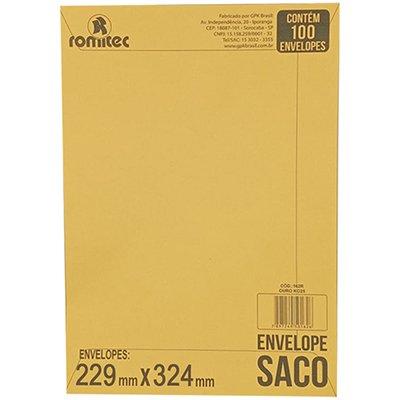 Envelope saco kraft ouro 75g 229x324 kr-32 6831 Romitec CX 100 UN