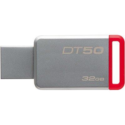 Pen Drive 32gb USB 3.0 prata/vermelho DT50 Kingston BT 1 UN