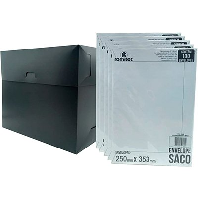 Envelope saco kraft branco 75gr 250x353 br-36 1831 Romitec CX 100 UN