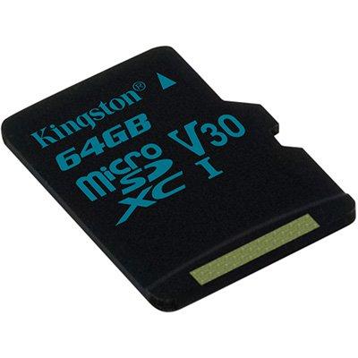 Cartão de memória micro SD 64gb Canvas Go! Classe 10 Kingston BT 1 UN
