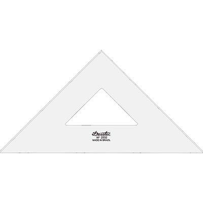 Esquadro 32x45 acrílico sem escala cristal 2532 Trident PT 1 UN
