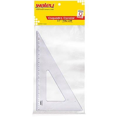 Esquadro 21x60 plástico cristal New Line Waleu PT 1 UN