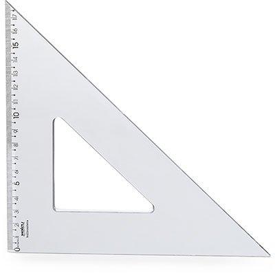 Esquadro 26x45 cristal 10070011 Waleu PT 1 UN