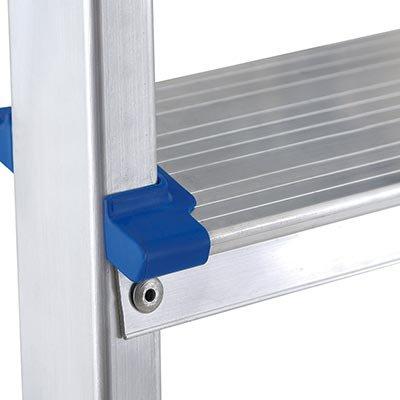 Escada banqueta 3 degraus em alumínio 5107 Mor PT 1 UN
