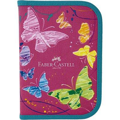 Estojo completo c/ 18 itens Borboleta rosa 182208RS Faber Castell PT 1 UN