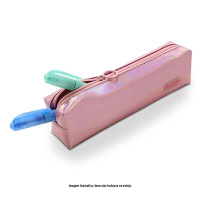 Estojo escolar pvc rosa A2242 Spiral PT 1 UN