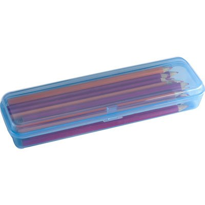Estojo escolar plástico azul Waleu PT 1 UN