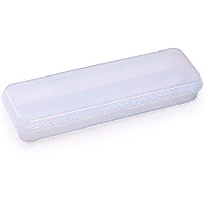 Estojo escolar plástico branco Waleu PT 1 UN