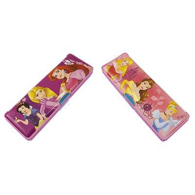 Estojo escolar plástico duplo Princesas DYP-071 Western PT 1 UN