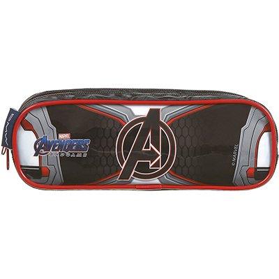 Estojo escolar poli. duplo Avengers Movie 11617 Dmw PT 1 UN