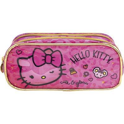 Estojo escolar poli. duplo Hello Kitty Glam 8825 Xeryus PT 1 UN