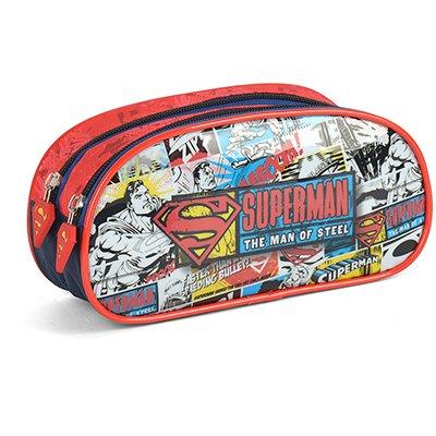 Estojo escolar poli. duplo Superman EI35664SM vrm 0400 MAXLOG IMPORTAÇÃO E  PT 1 UN
