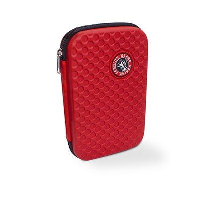 Estojo escolar EVA simples vermelho 6328 Spiral PT 1 UN