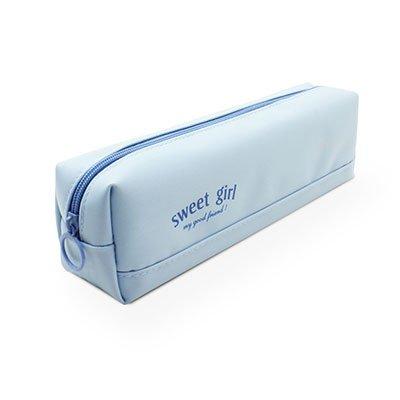 Estojo escolar poliéster simples azul 7405 Spiral PT 1 UN
