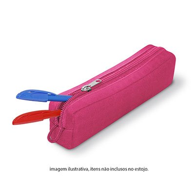 Estojo escolar poliéster pink PCSP Spiral PT 1 UN