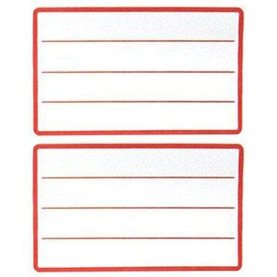 Etiqueta adesiva escolar 45x70mm c/ pauta c/ tarja vermelha Jr PT 400 UN