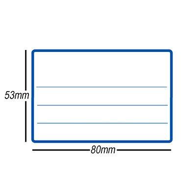 Etiqueta adesiva escolar 53x80mm c/ pauta c/ tarja azul OP5380 Pimaco PT 10 UN