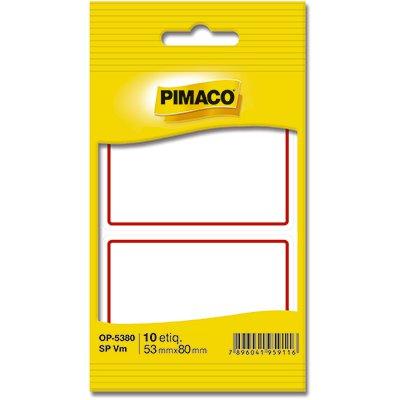 Etiqueta adesiva escolar 53x80mm s/pauta c/ tarja vermelha OP5380 Pimaco PT 10 UN