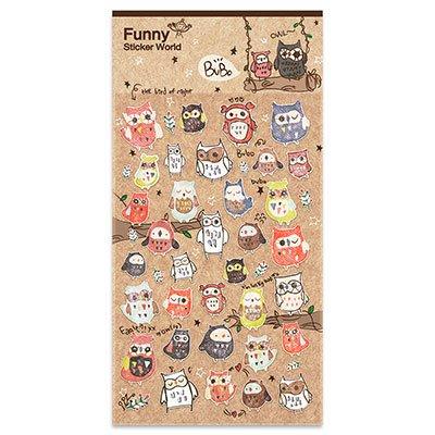 Adesivo stick Owls 15S-C542 Funny Sticker PT 1 UN
