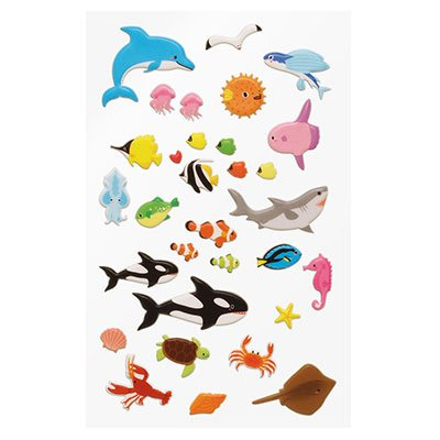 Adesivo stick sea animals 15S-C511.4 Funny Sticker PT 1 UN