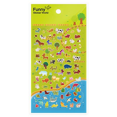 Adesivo stick animal 63-59.3 Funny Sticker PT 1 UN