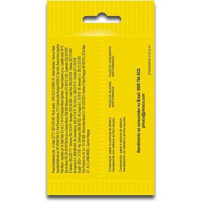 Etiqueta adesiva p/ codificação 12mm preta TP12PT Pimaco PT 210 UN