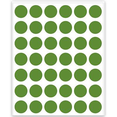 Etiqueta adesiva p/ codificação 12mm verde TP12VD Pimaco PT 210 UN