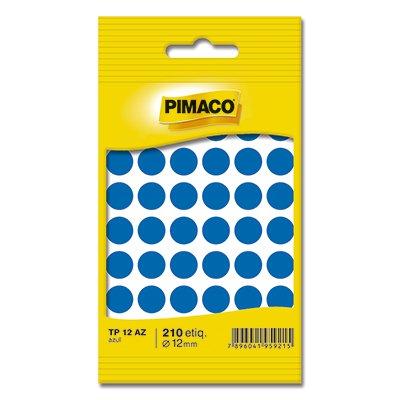 Etiqueta adesiva p/ codificação 12mm azul TP12AZ Pimaco PT 210 UN