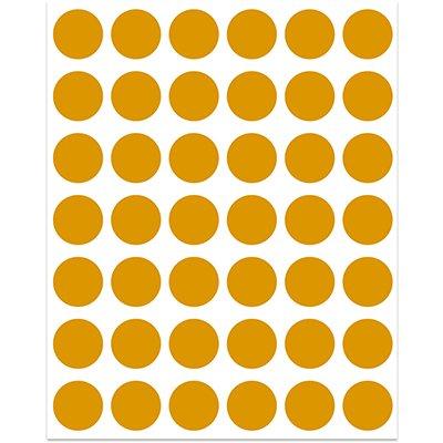 Etiqueta adesiva p/ codificação 12mm laranja TP12LR Pimaco PT 210 UN