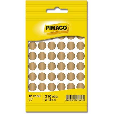Etiqueta adesiva p/ codificação 12mm ouro TP12OU Pimaco PT 210 UN