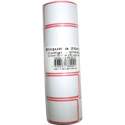 Etiqueta adesiva para preço 25x50mm com 300 unidades Jr PT 1 UN