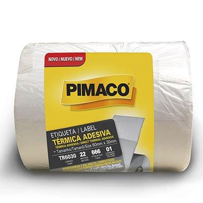 Etiqueta adesiva para balança térmica 60x30mm Rr Etiqueta PT 4 UN