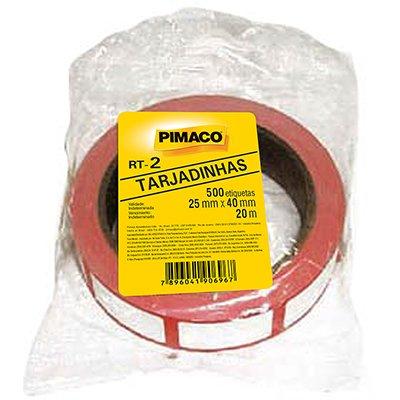 Etiqueta adesiva para preço 25x40mm com 500 unidades Pimaco PT 1 UN