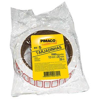 Etiqueta adesiva para preço 12x25mm com 1660 unidades Pimaco PT 1 UN