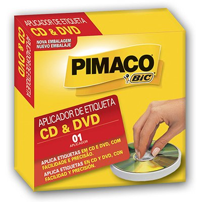 Aplicador CDpply de etiquetas para Cds e Dvds Pimaco PT 1 UN