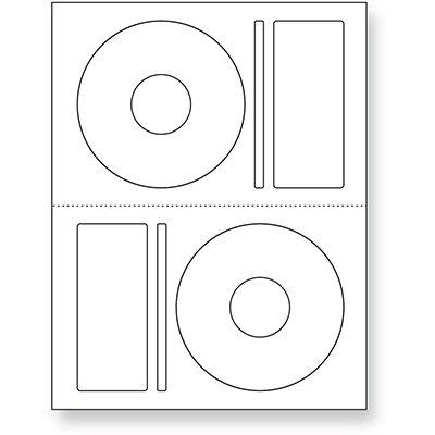 Etiqueta ink-jet/laser Carta para Cds e Dvds CD100B Pimaco PT 200 UN