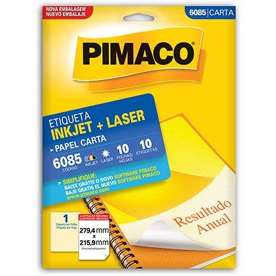 Etiqueta ink-jet/laser Carta 279,4x215,9 6085 Pimaco PT 10 UN