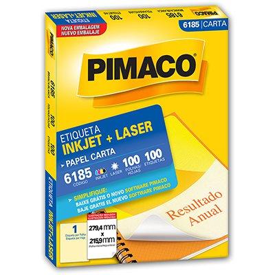 Etiqueta ink-jet/laser Carta 215,9x279,4 6185 Pimaco PT 100 UN