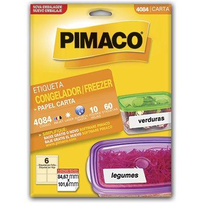 Etiqueta ink-jet/laser Carta 84,67x101,6 p/freezer 4084 Pimaco PT 60 UN