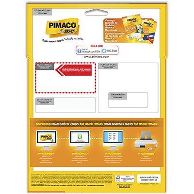 Etiqueta ink-jet/laser Carta 50,8x101,6p/freezer 934738 Pimaco PT 100 UN