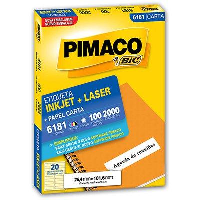 Etiqueta ink-jet/laser Carta 25,4x101,6 6181 Pimaco PT 2000 UN