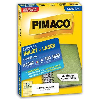 Etiqueta ink-jet/laser A4 33,9x99,0 362 Pimaco PT 1600 UN