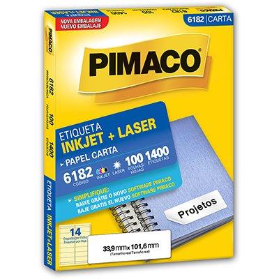 Etiqueta ink-jet/laser Carta 33,9x101,6 6182 Pimaco PT 1400 UN