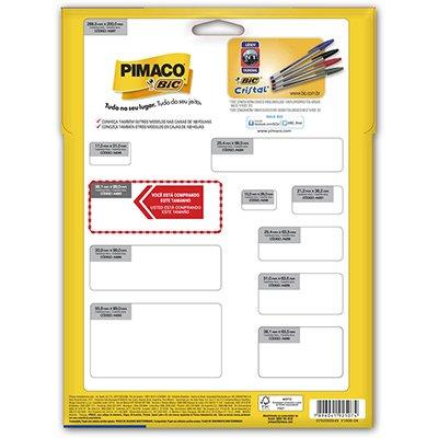 Etiqueta ink-jet/laser A4 38,1x99,0 263 Pimaco PT 350 UN
