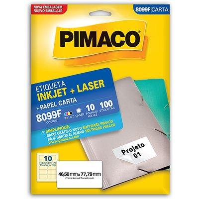 Etiqueta ink-jet/laser Carta 46,5x77,8 8099F Pimaco PT 100 UN